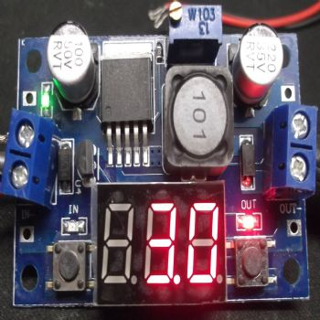 Adjustable DC to DC Voltage Step Down Module with LED Display.